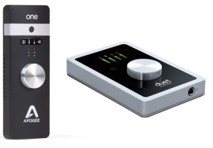 Apogee One and Duet audio interfaces for iPad and Mac